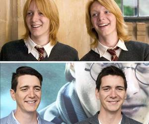 twins, james and oliver phelps, and potterheads image