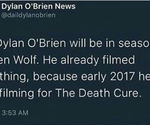 teen wolf, dylan o brien, and updates image