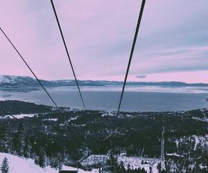 purple, Skiing, and snow image