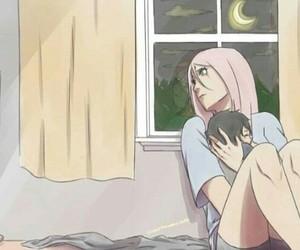 sakura, sasusaku, and sarada image