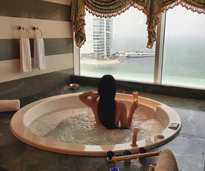 luxury, bath, and Dubai image