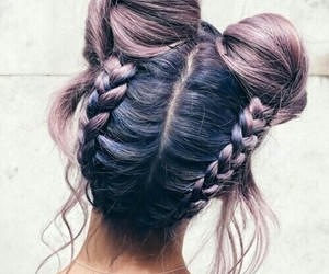 colors, girly, and hairstyle image