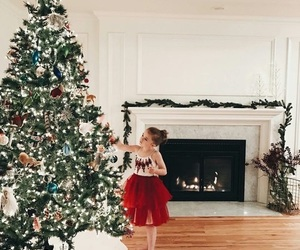 christmas, home, and girl image