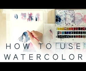 art, watercolor, and video image