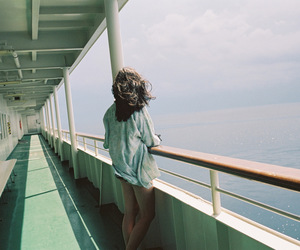 girl, sea, and grunge image