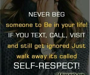 life, self respect, and me image