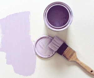purple, paint, and art image