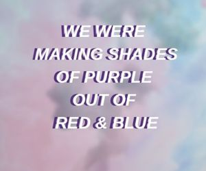 blue, Lyrics, and purple image