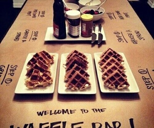 food, waffles, and ideas image