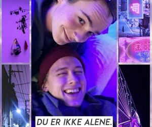 background, neon, and skam image