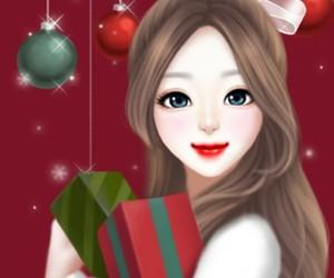 christmas, art, and art girl image