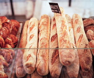 baguette, photography, and bread image