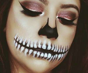 makeup, cosmetics, and Halloween image