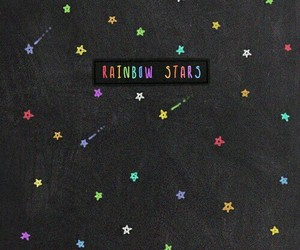 wallpaper, stars, and rainbow image