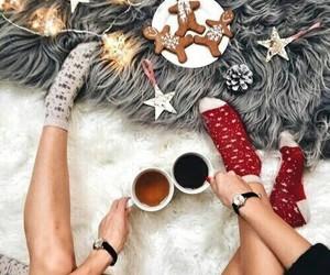 christmas, cozy, and tea image