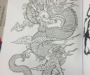 coloring book and dragon image