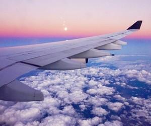 airplane, beautiful, and sun image