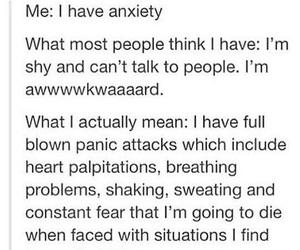 anxiety, mental health, and sad image