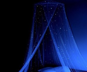 blue, bed, and night image