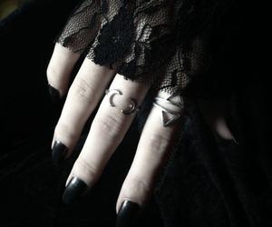 black, ring, and dark image