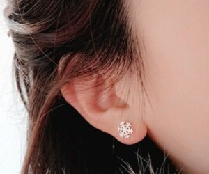 earrings, girl, and winter image