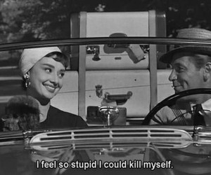 audrey hepburn, stupid, and movie image
