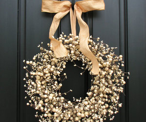 bow, christmas, and door image