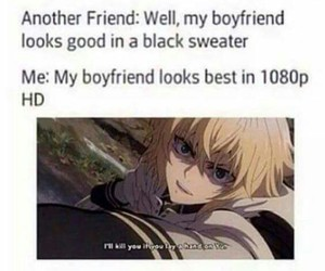 anime, boyfriend, and funny image