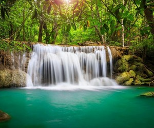 waterfall and landscape image