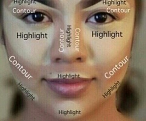 makeup, contour, and make up image