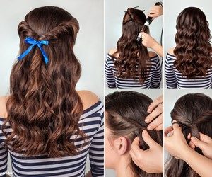 diy, hairstyle, and hairstyles image