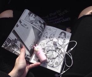 manga, black, and japan image