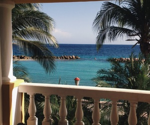 balcony, palm, and palmtree image