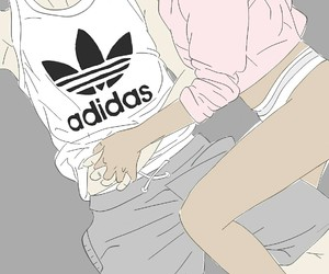 adidas, art, and couple image