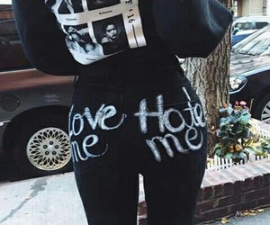style, love me, and hate me image