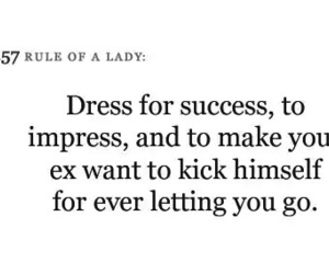 ex, quote, and dress image