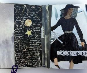 art journal, black, and journaling image