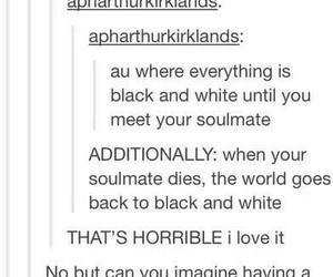 black and white, soul mates, and what image