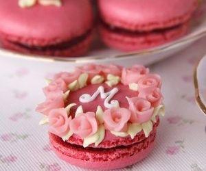 macaroons, cake, and food image