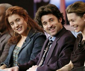 grey's anatomy, ellen pompeo, and patrick dempsey image