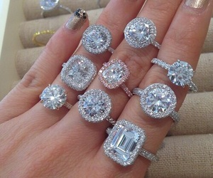 diamond, luxury, and rings image