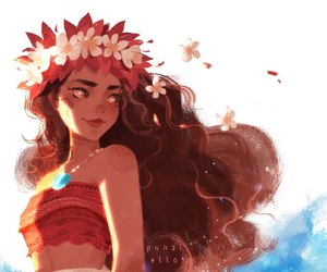 moana, disney, and art image
