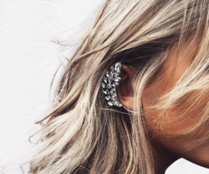 fashion, hair, and earrings image