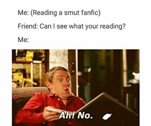 funny, sherlock, and smut image