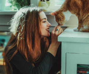 cat, girl, and style image
