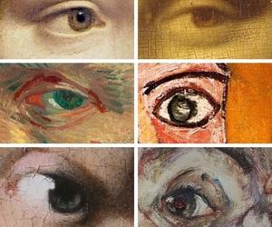 eyes, Leonardo da Vinci, and vermeer image