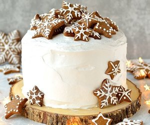 cake, christmas, and winter image