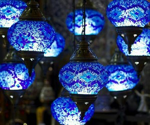 blue, light, and lamp image