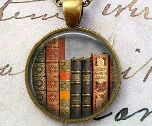 books, chain, and necklas image