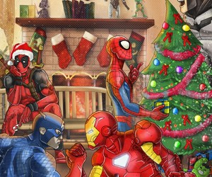 christmas, deadpool, and batman image